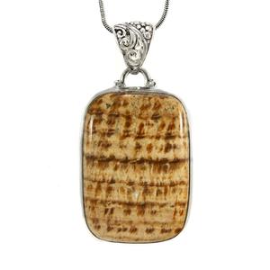Сребърен медальон с кенди арагонит