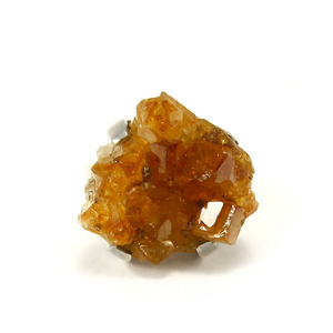 Масивен сребърен пръстен с друза цитрин