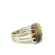 Сребърен пръстен с бъмбълби яспис
