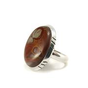 Сребърен пръстен с норена яспис
