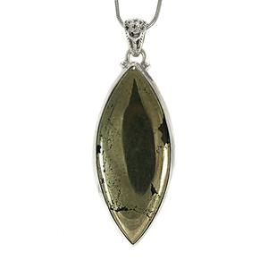 Сребърен медальон с пирит в магнетит