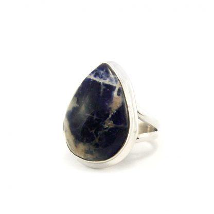 Сребърен пръстен със содолит