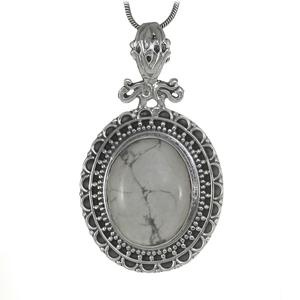 Медальон с хаулит в сребърен обков