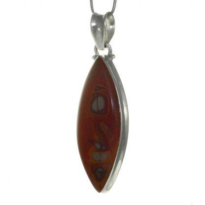 Сребърен медальон с норена яспис