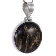 Сребърен медальон със златен серафинит