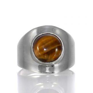 Сребърен пръстен с тигрово око