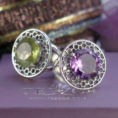 Сребърни пръстени с естествен камъни