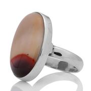 Масивен сребърен пръстен с мукаит