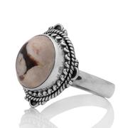 Сребърен пръстен с фъстъчен яспис