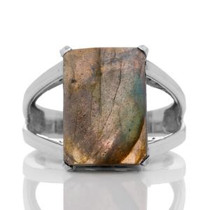 Сребърен пръстен с фасетиран лабрадорит