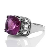 Сребърен пръстен с фасетиран аметист