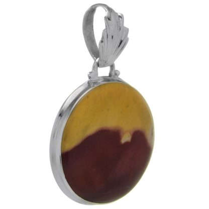 Сребърен медальон с мукаит
