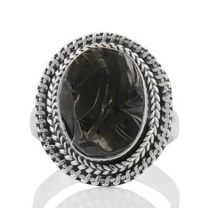 Сребърен пръстен с шунгит