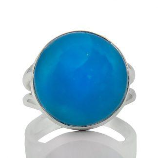 Сребърен пръстен със смитсонит