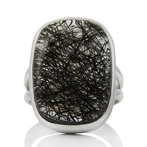 Сребърен пръстен с турмалинов кварц