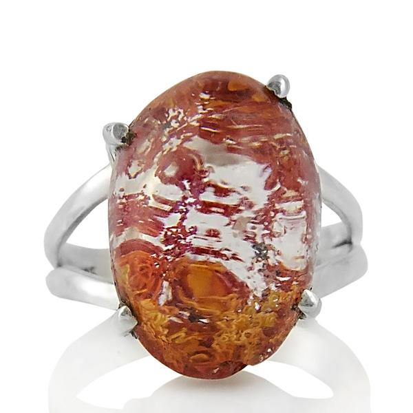 Сребърен пръстен с лодолит (градински кварц)