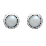 Нежен сребърен комплект висулка и обеци с перла
