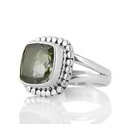 Нежен сребърен пръстен с празиолит