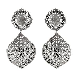 Орнаментирани сребърни обеци на винт