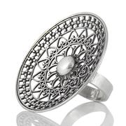 Голям орнаментиран сребърен пръстен