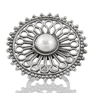 Едър сребърен пръстен
