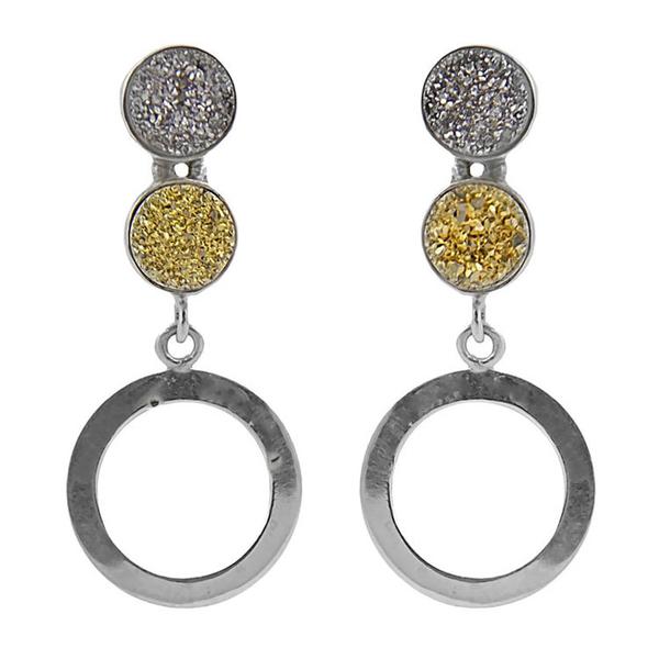 two-druzy-earrings-studs-front2