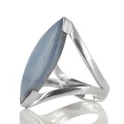 Сребърен пръстен със син опал (Оуайхи)
