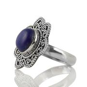 Сребърен пръстен с кабошон лазурит (лапис лазули)