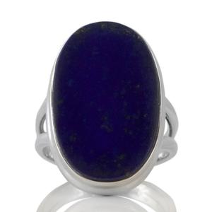 Сребърен пръстен с лазурит (лапис лазули)