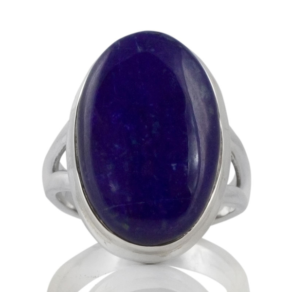 Сребърен пръстен с кабошон лапис лазули (лазурит)
