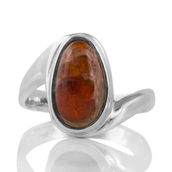 Сребърен пръстен с мексикански опал