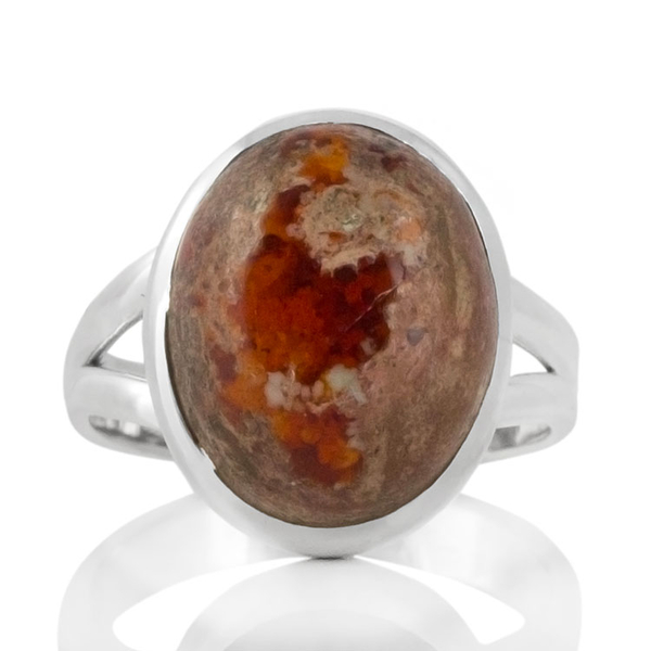 Сребърен пръстен с мексикански опал (Кантера)