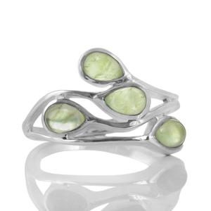 Нежен сребърен пръстен с пренити