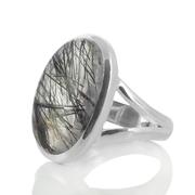 Сребърен пръстен с турмалинов кварц (Стрелите на Амур)