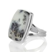 Сребърен пръстен с дендро опал
