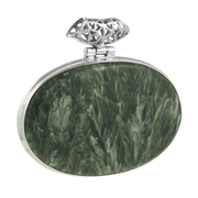 Сребърен медальон с едър серафинит