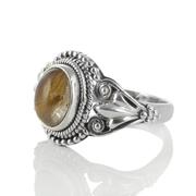 Сребърен пръстен с рутилов кварц (Косите на Венера)