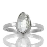 Сребърен пръстен с херкимер кристал