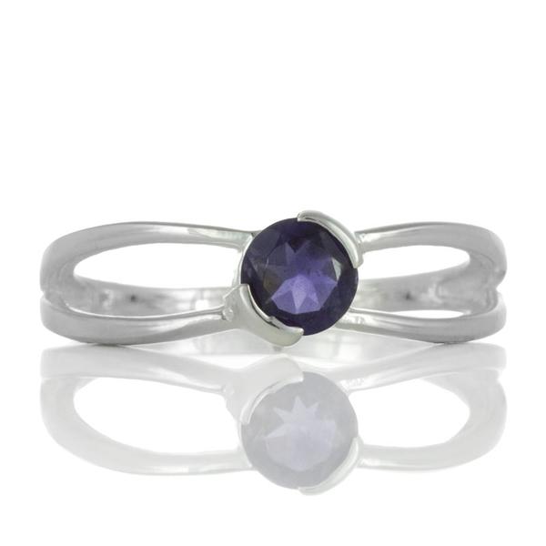 Нежен сребърен пръстен с иолит
