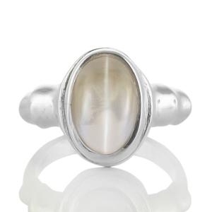 Сребърен пръстен с шриланкийски лунен камък