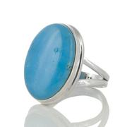 Сребърен пръстен с овален смитсонит