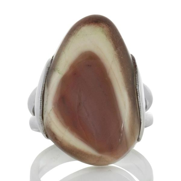 Сребърен пръстен с имперски яспис