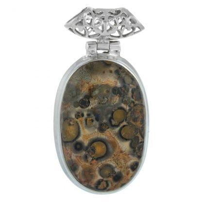 Сребърен медальон с леопардов яспис