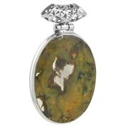 Сребърен медальон с яспис риолит