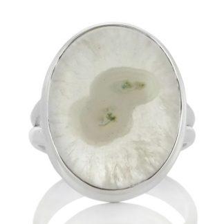 Сребърен пръстен със соларен кварц (сталактит кварц)