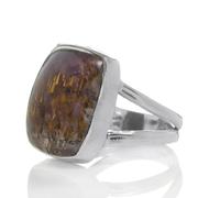Сребърен пръстен с какоксенит