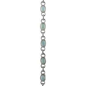 Нежна сребърна гривна с ларимари