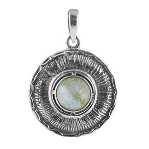 Медальон с рутилов кварц (Косите на Венера) в сребърен обков