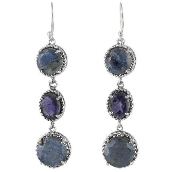 three-circles-kyanite-iolite-earrings-front