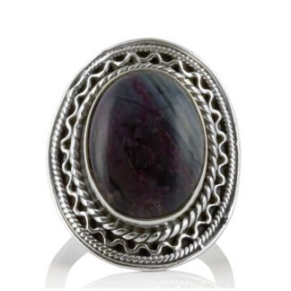 Сребърен пръстен със сугилит